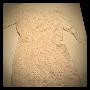 Impressions White Lace Dress